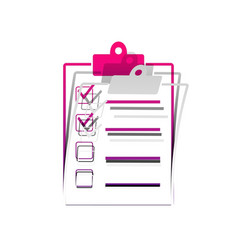 checklist sign detachable vector image
