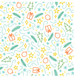 Christmas doodle seamless pattern vector