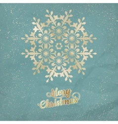Christmas postcard with snowflake eps 10 vector
