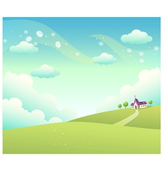 Church landscape vector
