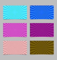 colored abstract ray burst card background vector image