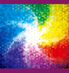 colorful shining geometric background vector image