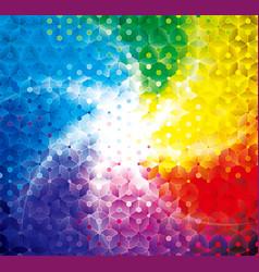 colorful shining geometric background vector image