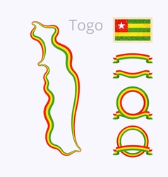 Colors of togo vector