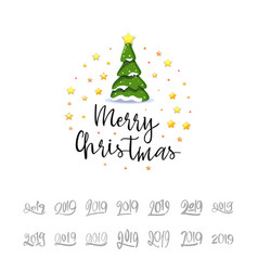 congratulations merry christmas 2019 banner vector image