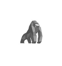creative silverback logo design symbol vector image