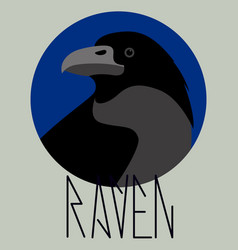 crow raven profile vector image