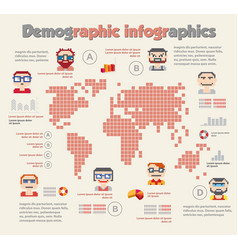 Demographic infographic with people vector