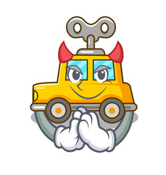 Devil cartoon clockwork toy car for gift vector