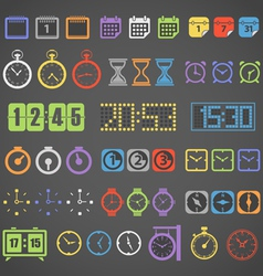 Different color measuring stuff collection vector image