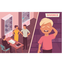 Divorce isometric vector