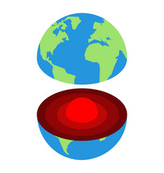 earth core center planet structure earths vector image