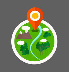 eco tourism logo vector image
