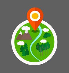 Eco tourism logo vector