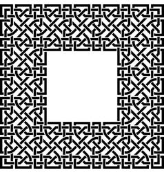editable celtic border vector image vector image