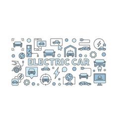 electric car blue or ev concept vector image