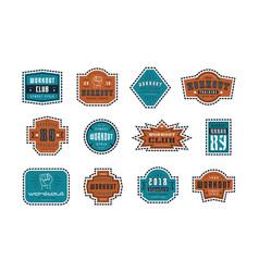 emblems and badges set workout club vector image