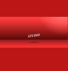 empty vivid red color studio vector image