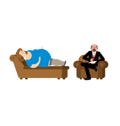 fat woman at psychologist reception consultation vector image