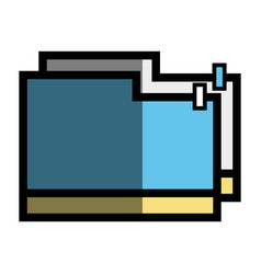 Folder file to save important documents vector