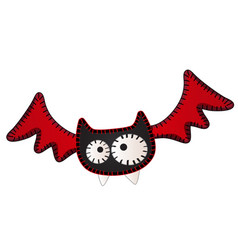 funny flying bat with contours in the form vector image