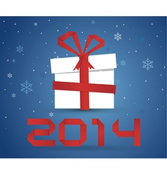 Gift box 2014 vector image