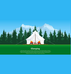 glamping concept banner vector image