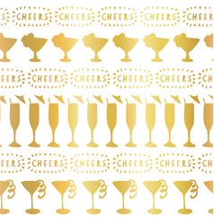 gold foil cocktail glass pattern tile vector image