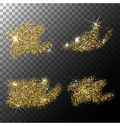Gold glitter stain on a background vector