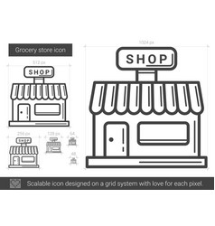Grocery store line icon vector