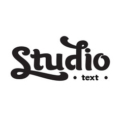 handwritten modern brush lettering of studio vector image