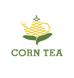 icon teapot from corn vector image