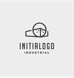 initial letter o real estate logo design vector image