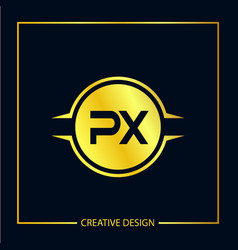 Initial letter px logo template design vector