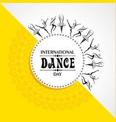 International dance day greeting vector