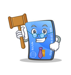 Judge credit card character cartoon vector