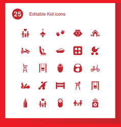 kid icons vector image