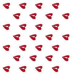 lips sideways pattern seamless vector image