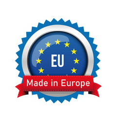 made in europe - eu badge sign vector image