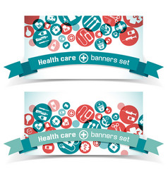 medical banners set vector image