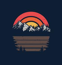 Nature vintage background vector