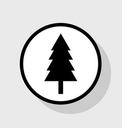 new year tree sign flat black icon in vector image