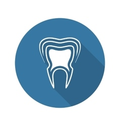 Oral Health Icon Flat Design vector image