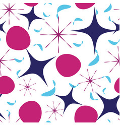 pattern with chaotic four-corner stars vector image