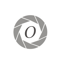 Photography service letter o vector