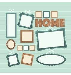 Picture frame Photo art gallery vector image