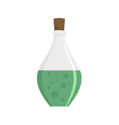 potion elixir bottle icon flat style vector image