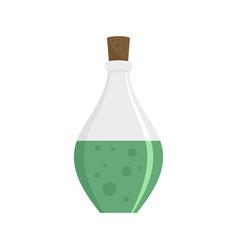Potion elixir bottle icon flat style vector