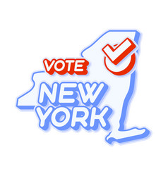 Presidential vote in new york usa 2020 state map vector