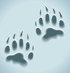 Prints in snow wild animal tracks vector
